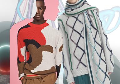 線面交匯--男裝毛衫工藝趨勢