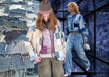 復原設計--男女裝牛仔專題趨勢