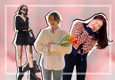 韩国的搭配风格多是以展现女性柔软、甜美的一面为主。这些都在韩国的各大Instagram博主身上展现的淋漓尽致。博主们对于毛衫的穿搭也非常讲究,各式各样甜美的开衫,层次感丰富的叠穿和经典的子母搭,韩国的Instagram博主用实力演绎着教科书式的春夏毛衫穿搭。通过kimehwa、Moco Bling、vanmalllinee这三位比较具有代表性的博主来体现韩国Instagram甜美风格穿搭博主的毛衫穿搭。