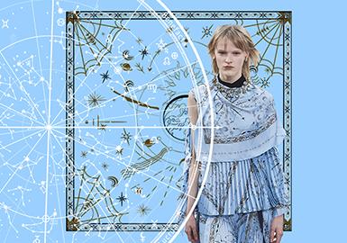 古星图里的日月神话--女装图案趋势