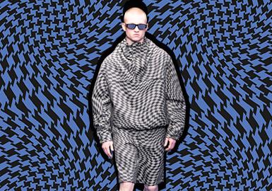 迷幻欧普风--男装图案趋势