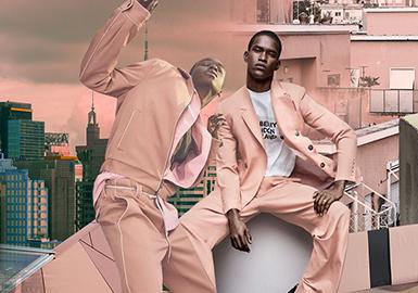 晚沙粉--男裝主題色彩趨勢
