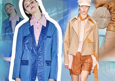 多面化的生活--女裝皮質拼接工藝趨勢