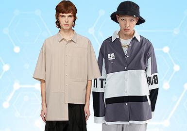 根據POP4月份用戶下載量的TOP100男裝襯衫數據分析,時尚休閑類風格有一定下降趨勢,其他都與上月持平。圖案類本月多以條紋設計為主,輔以色彩和圖案的裝飾,增加襯衫的復古和時尚韻味。工藝類,解構設計在本月大放異彩,賦予襯衫款式更多的靈感創造。門襟的花樣處理、增加一層的疊層設計等細節的處理,在今季得到大量關注。