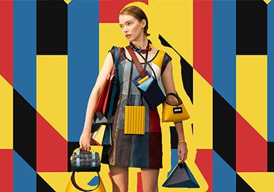 重构蒙德里安几何--女装图案趋势