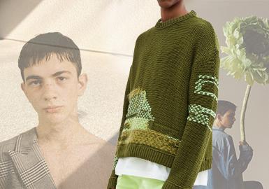 Andersson Bell是2014年创立的韩国设计师品牌,擅长把街头、艺术、文化等元素综合,款式风格打破了性别、身形的局限,主张穿衣自由。2020春夏从自然植物的光影变化中撷取灵感,着重表现光影下的情绪宣泄,通过颜色、裁剪、肌理、图案等将自然中完美的或不完美的时间痕迹展现在服装上,展示过去在未来某个时刻的恢复。