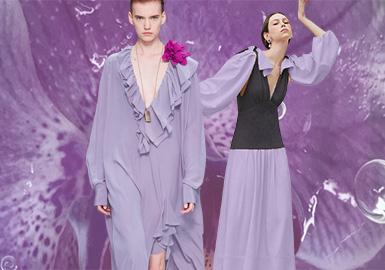 鳶尾紫--女裝主題色彩趨勢