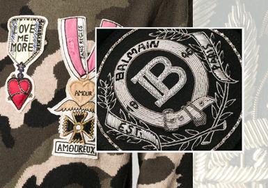徽章印記--男裝毛衫工藝趨勢