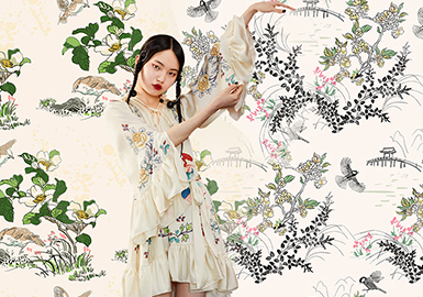绵绵蜜意中国风--女装图案趋势