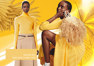 萨摩亚的太阳--女装毛衫色彩趋势