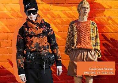 洋溢暖橘--男裝毛衫單色彩趨勢