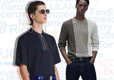 基于用户浏览搜索互动数据评选出男装毛衫零售市场2020年上半年TOP品牌热榜,由这一数据来看在上半年国内品牌的关注度更高,TOP10中国内品牌占比二分之一(Septwolves、Cabbeen、Satchi、K-BOXING、BULE ERDOS),同时从热搜排行榜中也可看出,商务品牌的热度与去年同期相比有明显攀升,简洁的款式上做局部的细节设计是上半年商务休闲风格的主流设计趋势;Cabbeen在2020上半年积极援助抗疫工作且不断推出联名系列,以及品牌主理人的形象推广使得品牌热度不断,从2019下半年热搜榜的第九名跃升至第二;羊绒品牌在上半年的关注也有所回升,Malo、BULE ERDOS两个羊绒品牌跻身前十,追求高品质、舒适简约逐渐成为更多人的选择。