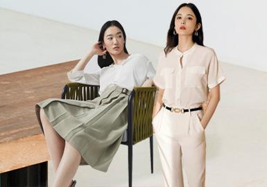 本次的职场风格以Lily、Less、Me & City等为重点分析品牌,以西装单品、西装短裤、职场半裙与配饰装饰、工装风为综合解析方向,并为职场的穿搭方式提供了更多选择。