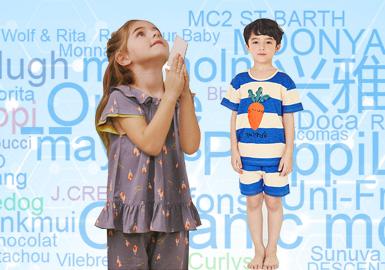 在2020春夏上半年童装家居服TOP10品牌关注数据中,日韩品牌占比90%是其中主要组成部分,以Organic mom为首的韩国家居品牌依然是家居服市场关注的重点,除此以外中国【】品牌兴雅婷在TOP10中能位居第二,也说明了国内品牌在家居服行业竞争中有着很大的潜力。