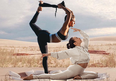 形体释放--女装瑜伽服廓形趋势