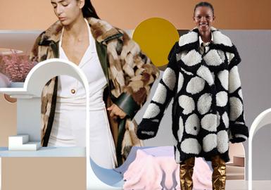 几何视觉--女装皮衣皮草图案趋势