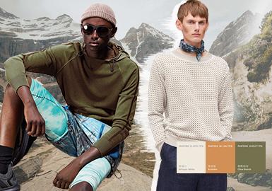 消失的地平线--男装毛衫主题色彩趋势