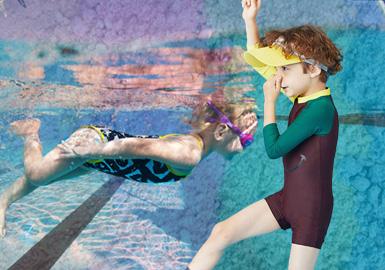 沙灘派對--童裝泳裝廓形趨勢