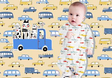 交通伙伴--婴幼童图案趋势