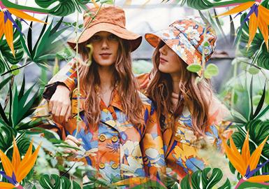 植物花卉--女装皮衣皮草图案趋势