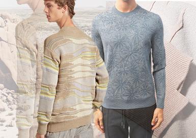 Ermenegildo Zegna寻找品质最上乘的羊毛、山羊绒、马海毛,打造品质考究、恒久优雅和奢华现代的毛衫单品。异质拼接手法的运用,简约细腻的基础打底衫款式,胸前拉链装饰的局部细节,线迹对款式结构的勾勒效果成为消费者喜爱的款式设计。