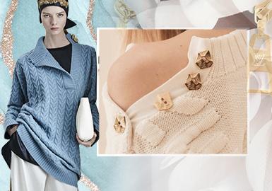 視線聚焦 衣領設計--女裝毛衫工藝細節趨勢