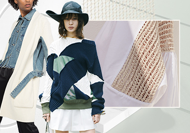 結構重組--女裝毛衫(拼接)工藝趨勢