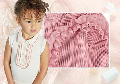 甜味童年--女童毛衫工藝細節趨勢