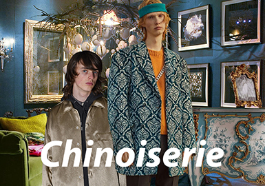 Chinoiserie--21/22秋冬男装主题面料趋势