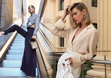 女性话题的持续热度和社会地位的提升,让新时代的女性脱颖而出,不再为世俗的枷锁束缚,洒脱的自我追求也演绎着都市飒姐的穿搭腔调。利落干练是都市飒姐穿搭的精髓,腰节线的比例是重点。各大时尚博主选择经典的西装、衬衫、半裙等核心单品,谱写着都市时尚女性更具态度的穿搭格调。