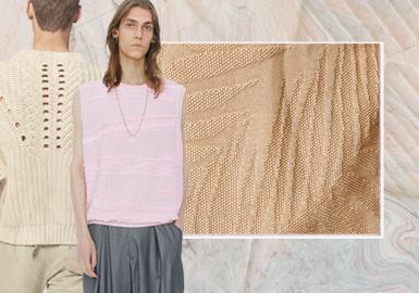 針法構造--男裝毛衫工藝趨勢
