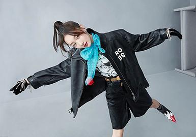本篇报告对DAZZLE集团下的品牌新一季秋冬款式进行深度剖析。截止9月17日新品占比中以T恤为主,在T恤的单品中主要突出表现在图案印花以及精美的图案工艺方面。