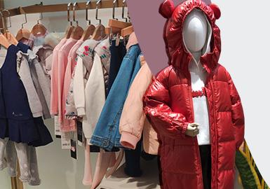 根据十二月童装零售市场全球实拍资料,提炼出橙红色、炫蓝色、亮黄色、玫红、嫩粉色、岛屿绿六个市场主要流行色彩,并针对色彩进行整合分析,了解当下童装市场的色彩变化。