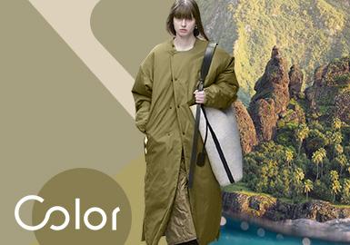 苔藓绿--女装色彩趋势