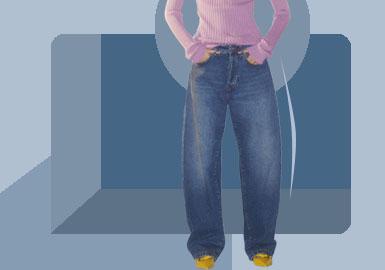 新式宽松--女装牛仔裤廓形趋势