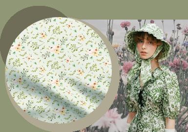 复刻时光--女装棉混纺花型面料趋势
