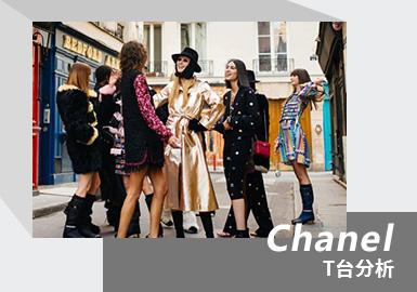 "Chanel 2021秋冬系列依旧离不开经典二字。对此,Virginie Viard解释道:""本季设计融合了两种灵感,我所钟爱的滑雪假日氛围,和从1970年代延续至今的,一种非常酷的巴黎式时髦。""所以,本季秀场选在卡斯特(Castel)俱乐部,虽然空间不大,给人温馨又浪漫的感觉。细看Chanel 2021秋冬系列中的对比运用,包括造型层次、面料材质与所流露的情绪。本次秋冬系列的邀请函由摄影师双人组Inez & Vinoodh掌镜设计,用手账本的创意形式将经典的香奈儿标签如山茶花、logo、可可香奈儿女士、经典网格包袋等做了集合,镶了钻的大logo挂在香奈儿女士的眼睛上,可爱极了。"