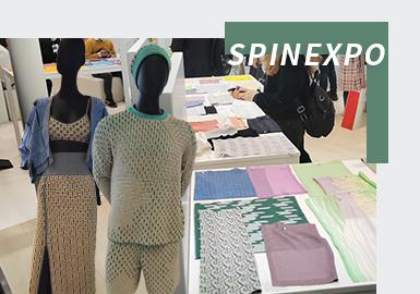 """针对市场对环保和健康产品的需求,SPINEXPO上海2022春夏纱线展主打""""天然纤维""""和""""创新纤维""""两大趋势方向,其中""""天然纤维""""以羊绒、羊毛、亚麻、棉、纸、真丝六种为代表,返璞归真,强调人与自然和谐相处,追求自然舒适的效果;""""创新纤维""""则有天丝、有机纤维、再生纤维、抗菌纤维、功能纤维和EcoVero六种分类,从抗菌、抑菌、防臭、抗紫外线、防污、速干易清洗等角度出发,提升服装穿着性能,满足更多消费需求。"""
