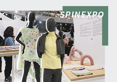 """2022春夏SPINEXPO上海国际纱线展在世博展览馆开启,本次纱线展以""""梦想纷飞""""、""""内心爱意""""、""""逃离""""、""""向前行""""四个主题阐述2022春夏纱线趋势。天然纤维、功能性创新纤维的开发创新纱线,舒适性和安全性是纱线和织片开发的重点,环保可持续发展依旧是热点,可回收材料的应用进一步推动可持续发展的进程。除此之外,本次展会还设置《中点》趋势展区,提前发布22/23秋冬趋势预测主题。"""