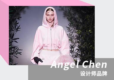 """ANGEL CHEN 是设计师陈安琪创立的先锋独立时装品牌,品牌被灌注以其对于色彩的独特见解,巧妙糅合东西方美学理念,成为当下国内最受关注的年轻品牌之一。陈安琪2014年毕业于伦敦中央圣马丁艺术与设计学院,被i-D杂志评为年度毕业首五名设计师,同年创立同名品牌 ANGEL CHEN 并赢得 Fashion Scouts 的 Ones to Watch 奖项。2016年荣登福布斯""""30 Under 30""""成功青年俊杰榜单,且于次年起连续两年登上BoF500榜单。2017秋冬系列始,品牌多次于米兰时装周官方日程发布最新系列。2021/22秋冬【Daughter of the Dragon】系列致敬好莱坞首位华裔女星,将中国文化与西方美学巧妙糅合,把旧时代的电影图像搬上秀场,前卫演绎全新视觉碰撞,诠释出东方""""奇女子""""的独特魅力。秀场以极具东方气质的特制墨绿竹林为场景,结合舞者刚柔并济的潇洒律动,营造神秘莫测的磅礴气势。"""