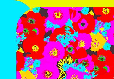 荧光花卉--女装图案趋势