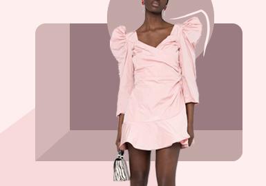 肩部修饰--女装连衣裙廓形趋势