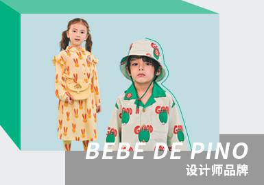 来自韩国的童装设计师品牌BEBE DE PINO,设计上大胆的运用色彩对比以及混合搭配理念,同时考虑到孩子柔软的皮肤采用了优质面料,以舒适感为设计重点。从孩子们的世界里获得灵感,强烈的色彩感彰显孩子的个性与时尚。