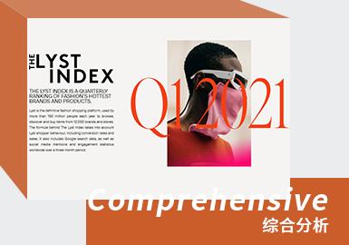 LYST指数是时尚最热门品牌和产品的季度排名。 Lyst是权威的时尚购物平台,每年有超过1.5亿人使用它来浏览,发现和购买12,000个品牌和商店的商品。Lyst指数背后的公式考虑了Lyst购物者的行为,包括转化率和销售量。它还包括Google搜索数据,以及三个月内全球范围内的社交媒体提及和参与度统计信息。